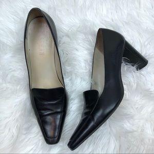 Lauren Ralph Lauren Black Heeled Loafer 8.5